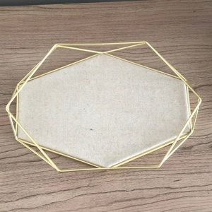 Umbra prism gold jewelry display tray